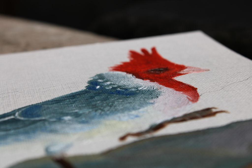 oil on paper, Brenda Ranieri